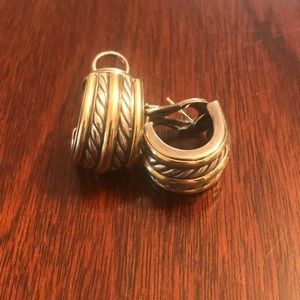David Yurman Half Hoop Earrings